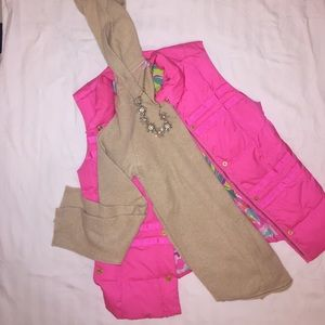 Lilly Pulitzer cashmere pullover hoodie( tan)