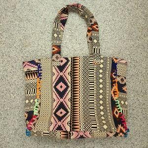 SL Fashions Handbags - SL by Street Level Tribal Print Tote