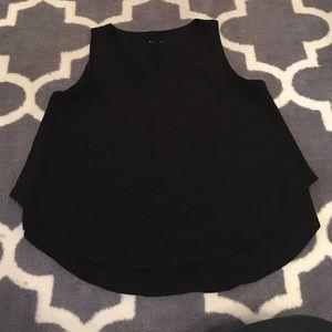 **3 for 10**Crepe black flowy blouse