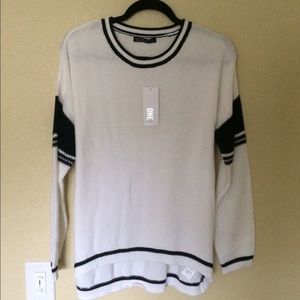 Cotton On Sweaters - Cotton On white and black knit sweater