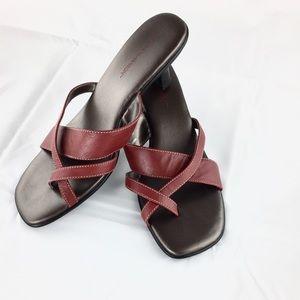 Hillard & Hanson Shoes - Hillard & Hanson Soft Red Sandals - Like New