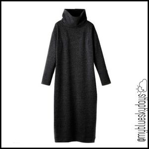 myblueskydays Dresses   Maxi Turtleneck Dress Plus Size New   Poshmark