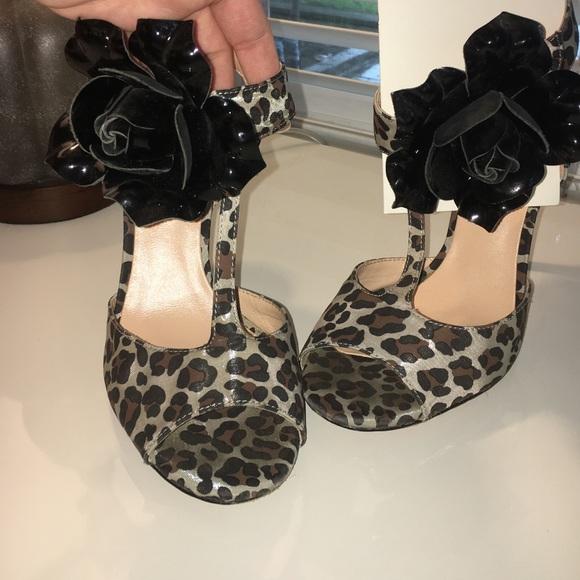 dd01c4258 Betsey Johnson Shoes - Betsey Johnson Leopard Print Heels w  flower