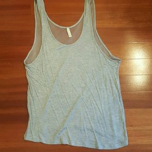 Kj Brand Tops - Sheer back gray jersey tank. Size Large.