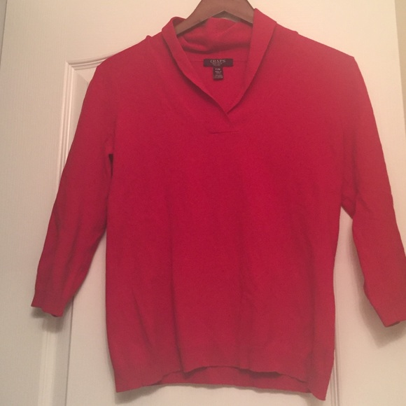 80% off Chaps Sweaters - Chaps red sweater in size PM from ...