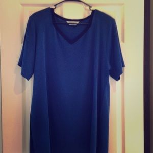 Misook Tops - Misook women's blue and black top. Size 2X.