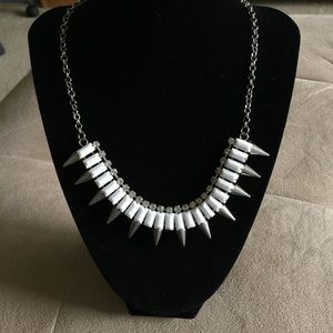 Claire's Jewelry - White Statement Necklace