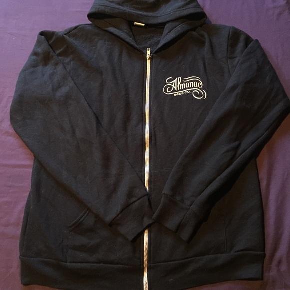 9ca095c1d American Apparel Sweaters | Sz L Mens Almanac Beer Co Zip Sweater ...
