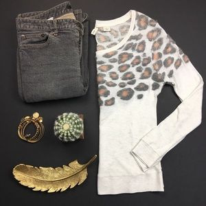 Anthropologie Sweaters - Anthropologie Moth Leopard Spot Sweater