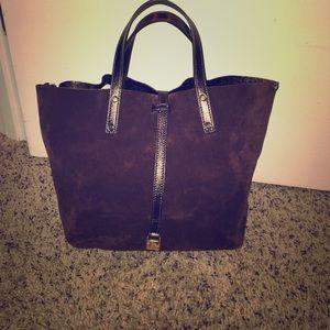 Tiffany & Co. Handbags - Tiffany and co reversible brown suede purse!!!