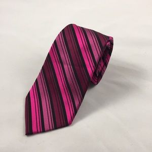 Express Other - Express Pink and Black Silk Tie