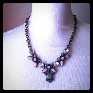 J. Crew Jewelry - J. Crew Statement Acrylic Rhinestone Necklace