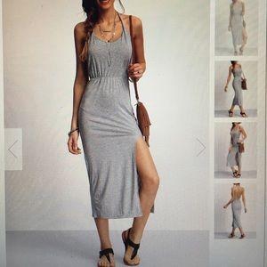 Dresses & Skirts - Halter backless split dress