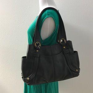 Tignanello Handbags - Tignanello black leather shoulder bag