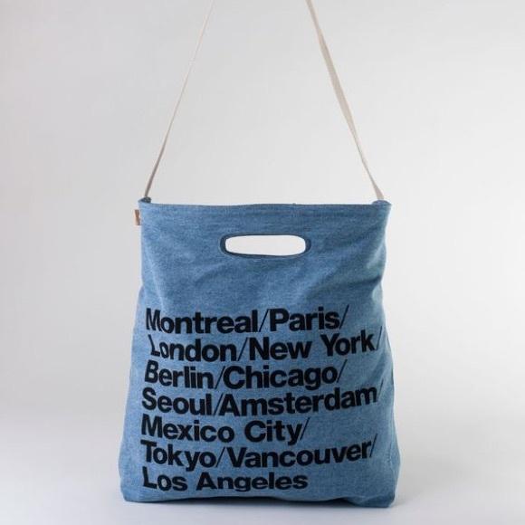 f6201b5596b American Apparel Bags | Cities Denim Tote Bag New | Poshmark