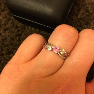Kay's Jewelry - Sapphire Pink and White Infinity Ring
