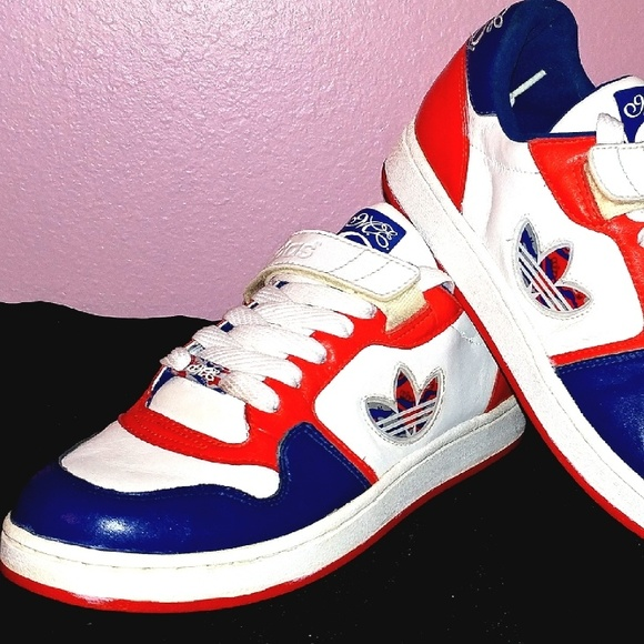 Missy Elliot Adidas Superstar red shoes sneakers