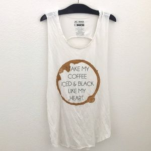 "Jac Vanek Tops - ☕️""I TAKE MY COFFEE..."" Jac Vanek cutout tank☕️"