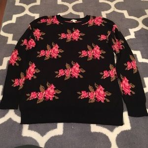Cozy floral sweater