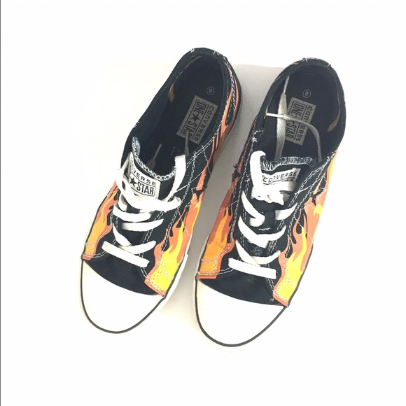 e9e962569376 Converse Shoes - Converse flame and stars low top shoes