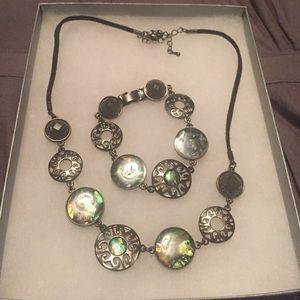 New! Lia Sophia matching bracelet and necklace set