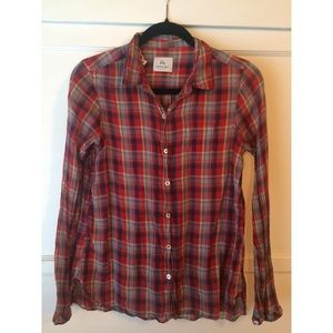 ‼️SALE 2 for $15‼️ anthropologie plaid button-up