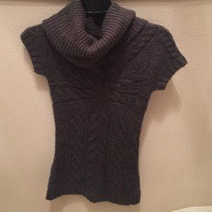 Cap Sleeve BCBG Maxazria Charcoal Sweater