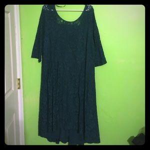 Fancy green lace dress
