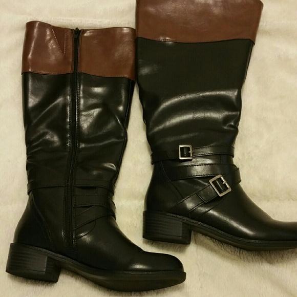296fdce9b060c jcpenney Shoes - Arizona Dakota two-toned riding boots