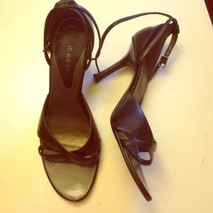 Black Leather upper sandals from Nine West !