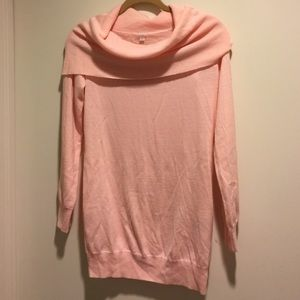 NWOT peach cowl neck sweater