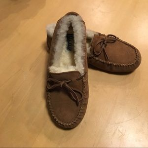 Ainsley Suede & Sheep Fur Moccasins