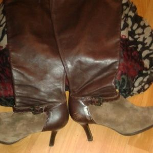 Franco Sarto  Shoes - Franco Sarto Brown Leather & Suede Boots Sz.8 1/2