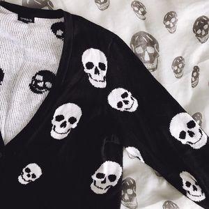 torrid Sweaters - 🎉💞HP! 🎀 Torrid Skull Cardigan