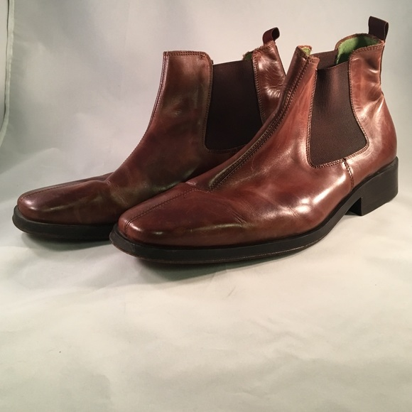 Mens Leather Chukka Boots By Jeff Banks