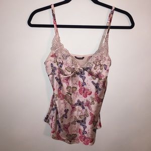 Karen Millen Tops - Karen millen size small silk butterfly camisole
