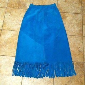 Vintage western turquoise skirt