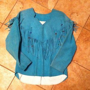 Turquoise vintage western top
