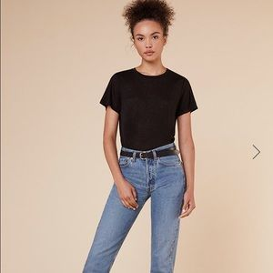 Reformation Tops - NWT! Reformation Flax Relaxed Crew Tee in Black