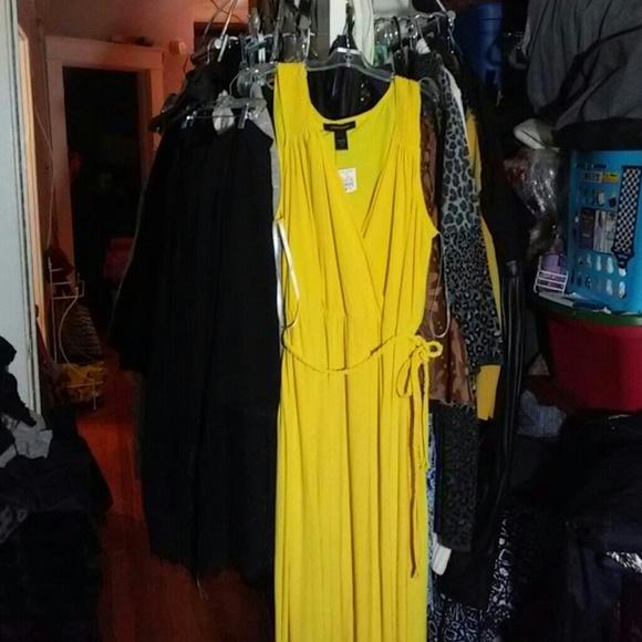 ff4c73c6b2b Ashley Stewart Golden Goddess Maxi Dress. 18 20