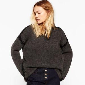 Zara Sweaters - 🆕 Embroidered Sleeve Sweater