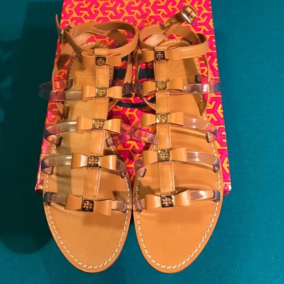 b47a6c448e27 🌴✨NIB✨Tory Burch Kira Clear Bow Flat Sandal 10.5