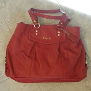 "Cherry Red Coach ""Ashley"" purse"