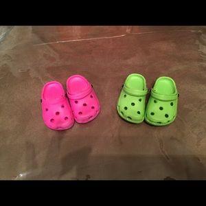 American Girl Doll Crocs New