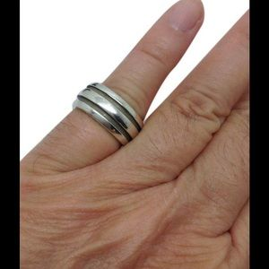 Tiffany & Co. Jewelry - Tiffany & Co. Silver unisex groove band ring