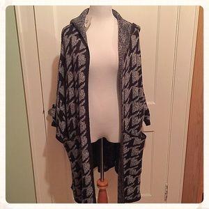 NWT {Zara} Hooded Long Sweater, M