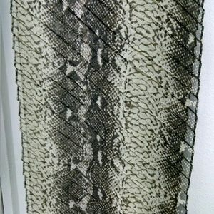 Snakeskin print skinny crinkle scarf