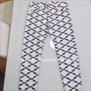 Isabel Marant Denim - ISABEL MARANT Etoile white and blue jean