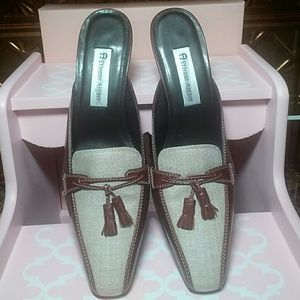 Etienne Aigner Shoes - NWOT!  Etienne Aigner 'Patrician' Leather Mules