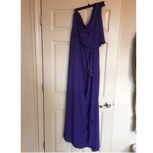 cbef39c86d BCBGMaxAzria Dresses - BCBGMaxazria Kendal Ruffle gown purple silk. Slit